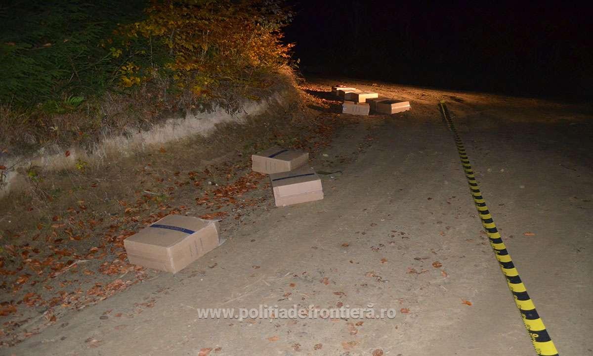 Aproximativ 9.000 pachete cu țigări de contrabandă confiscate la frontiera de nord a României